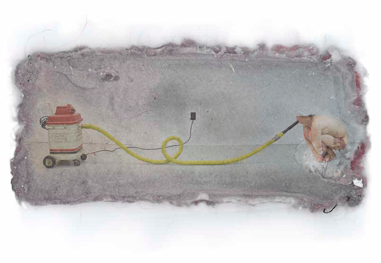 "Ying Miao Self - Cleaner 32 x 44"" Digital Print 2008"