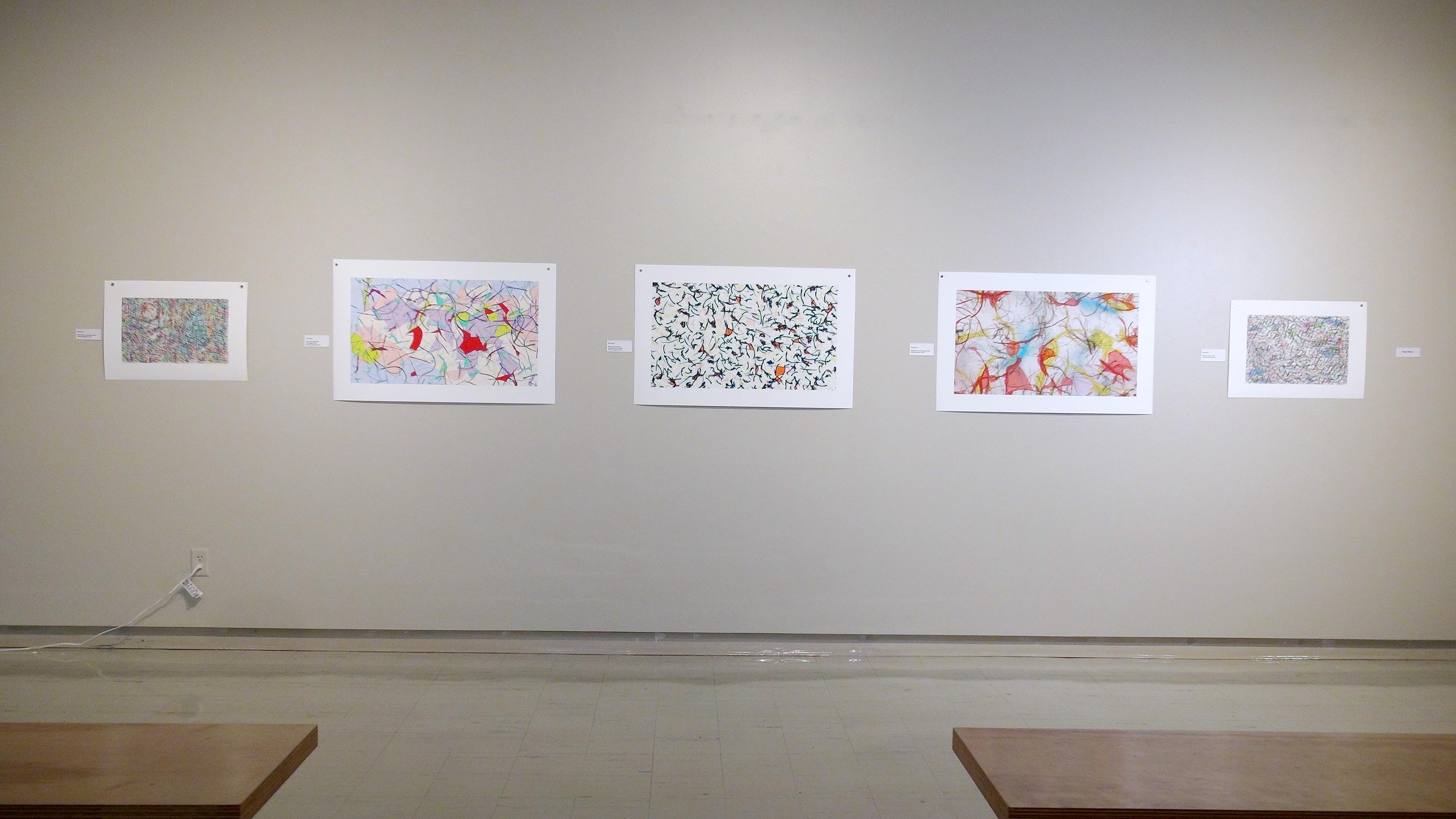 Paul Hertz, prints generated through custom designed boids flocking software