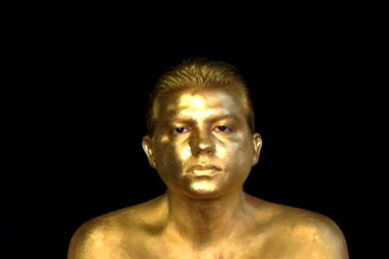 Golden (2009), silent, color, 9 minutes, looped