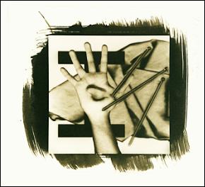 "Untitled (1993), platinum palladium print from digital negative, 3"" x 3"""