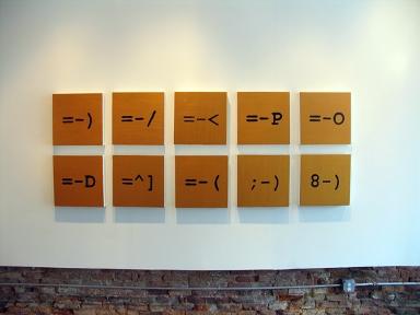 "Iconographs (2007-8), acrylic on canvas, 15""x 15"""
