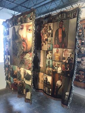 Selfie Blankets (2016), digital print on woven rug, twin-sized