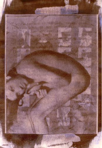 """Letters to the Past (1994), gum bichromate print from digital composite negative, 11""""x 7"""""""